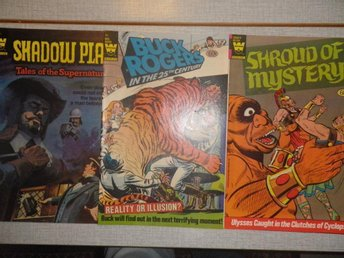 WHITMAN COMICS SHADOW PLAY + SHROUD OF MYSTERY + BUCK ROGERS