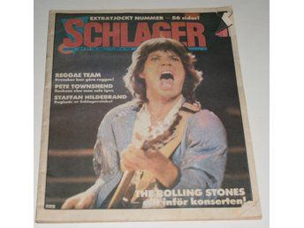 MICK JAGGER KEITH RICHARDS ROLLING STONES SCHLAGER 43 -1982
