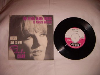 vinyl 45 rpm Petula Clark - The other mans grass... + 1