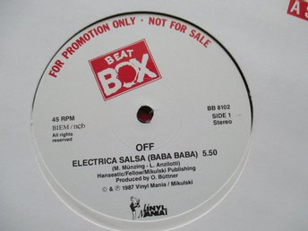"Beat Box promo 12"" maxi: OFF - ELECTRIC SALSA"