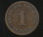 Germany 1889D 1 Pfennig  se bild