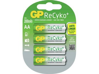 4x GP ReCyko+ AA 2000mAh Rechargeable Battery NK039