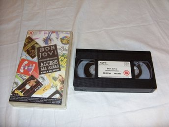 Bon Jovi Access All Areas A Rock & Roll Odyssey Musik konsert VHS PAL