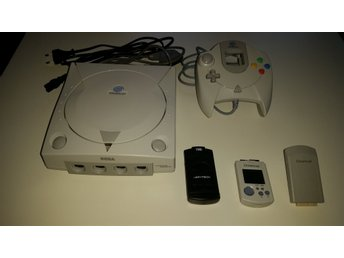 Dreamcast, 1 HK, 2x minneskort och Rumble Pack