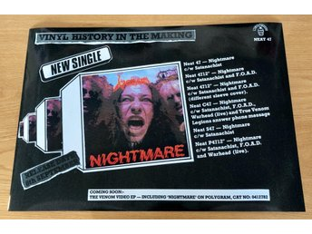 VENOM NIGHTMARE 1985 PHOTO POSTER