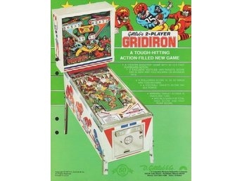 Original flyer Gottlieb GRIDIRION