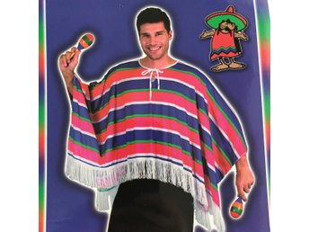 Poncho Mexican maskerad utklädnad Mexico USA taco halloween 176c22f6a1346