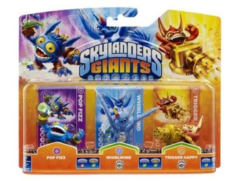 Skylanders Giants Triple Pack - Pop Fizz, Whirlwind, Trigger Happy (Series2)