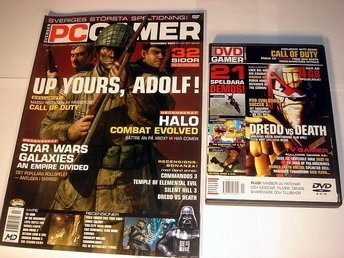 PC GAMER  Nr83 HELT NY m DVD  NOV 2003  UP YOURS, ADOLF  mm.
