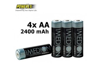 4x AA R6 Imedion 2400mAh Rechargeable Batteries NK054
