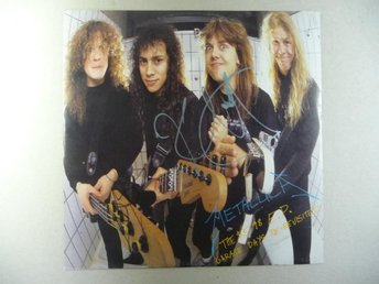 "METALLICA - SIGNERAD 12"" EP ""GARAGE DAYS"" - SIGNED"