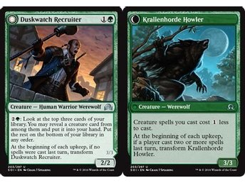 MtG, Duskwatch Recruiter | Krallenhorde Howler, Shadows over Innistrad