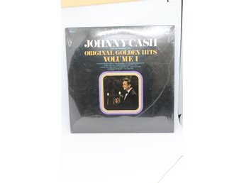LP-SKIVA JOHNNY CASH ORIGINAL GOLDEN HITS VOLUME 1 INPLASTAD