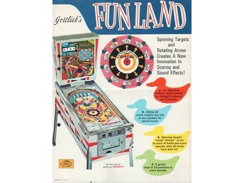 Original flyer Gottlieb FUN LAND