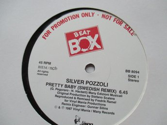 "Beat Box promo 12"" maxi: SILVER POZZOLI - PRETTY BABY (Swedish remix)"