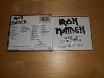 IRON MAIDEN - CD - LIVE AT DONNINGTON - SÄLLSYNT 2CD BOX