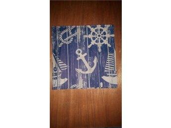 En servett, blå, ankare, segel - Huskvarna - En servett, blå, ankare, segel - Huskvarna
