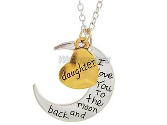 Halsband - I Love You to the Moon and Back Daughter