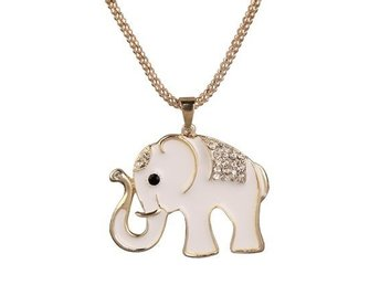 Elefant halsband /  2017 Fashion Elephant Pattern Diamante Pendant Sweat