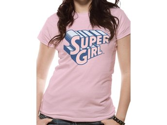 SUPERGIRL - TEXT & LOGO T-Shirt (FITTED) - L