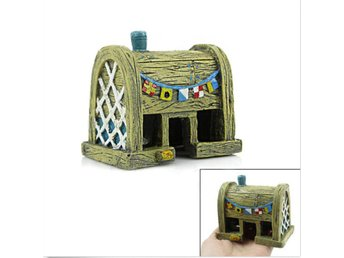 1pc Aquarium Prydnad Fisk Tank SpongeBob KRUSTY KRAB Resin House Decorations AU
