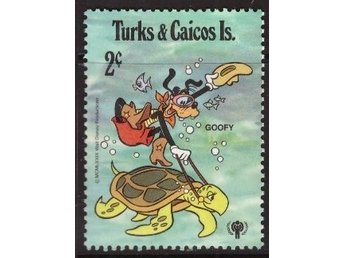 Disney, Turks and Caicos, 2-cent Goofy