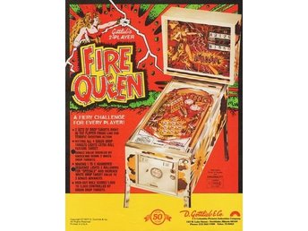 Original flyer Gottlieb FIRE QUEEN