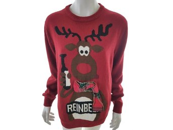 Next Sweater Size L Red Acrylic Graphic print Christmas Xmas