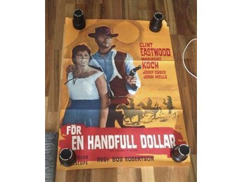 CLINT EASTWOOD FÖR EN HANDFULL DOLLAR 1965 ORGINALAFFISH      70 / 100