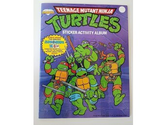 Teenage mutant ninja turtles sticker activity album komplett
