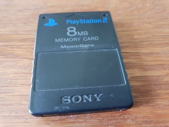 MINNESKORT 8 MB SVART SONY PS2 BEG