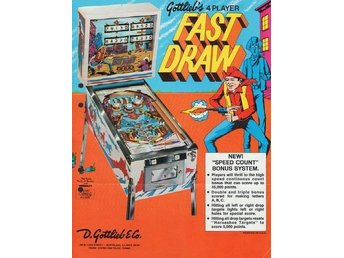 Original flyer Gottlieb FAST DRAW