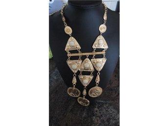 Fashion trendigt halsband smycke mode peng krona pärlor accessoar guldfärgad - Göteborg - Fashion trendigt halsband smycke mode peng krona pärlor accessoar guldfärgad - Göteborg
