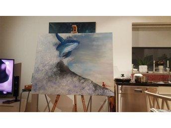 Akryl målning med Journey motiv, Deep edge canvas - Lidingö - Akryl målning med Journey motiv, Deep edge canvas - Lidingö