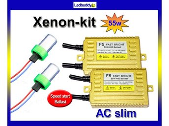 Xenon kit 55W H1 5000k Speed start AC digital slim kit Fast Bright xenonkit