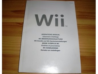 Manual Wii: Operations Manual (Channels & Settings)
