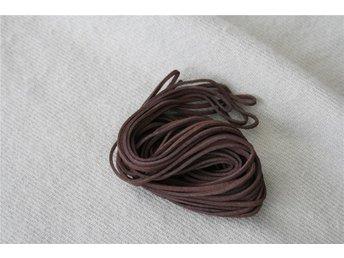 10 meter läderband mörkbrunt 3mm brett - läderrem - Sundsvall - 10 meter läderband mörkbrunt 3mm brett - läderrem - Sundsvall