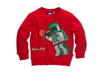 LEGO STAR WARS, SWEATSHIRT, RÖD (128)