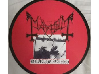 Pic-LP Mayhem - Deathcrush, Ospelat exemplar : Swe-2003, 1000 copies