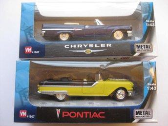 VN Leksaker Bilar Metall USA 2-Pack Chrysler / Pontiac 1:43 NR8 - Uddevalla - VN Leksaker Bilar Metall USA 2-Pack Chrysler / Pontiac 1:43 NR8 - Uddevalla