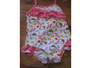 Bad Badbyxor Bikini Bad underbyxor Hello KItty Vit Rosa  6 mån  THN