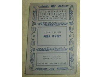 Javascript är inaktiverat. - Brunflo - Jag säljer Henrik Ibsen - Peer Gynt (Gyldendals Skoleutgåver)(Norsk Text)(4e upplaga)(Tryckt 1931) det blänkande på omslaget är ifrån blixten från kameran..Det som syns på bilderna är det jag säljer som sagt säljer dessa för jag har  - Brunflo