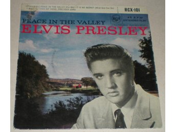 Elvis Presley OMSLAG EP Peace in the valley