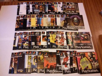 PS/PSone: Lot med tyska Playstation manualer (63 st)