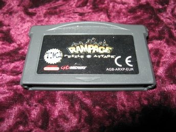 RAMPAGE PUZZLE ATTACK (GAMEBOY ADVANCE)EJ FODRAL EJ MANUAL