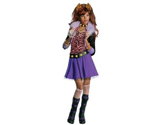 MONSTER HIGH Clawdeen Wolf 5-7 år Hel dress dräkt