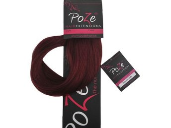 PoZe Äkta Clip N Go Set Extensions #5RV Red Passion