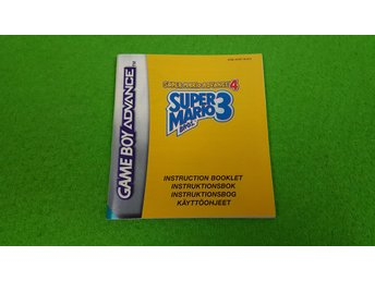 Super Mario Advance 4 SVENSK Manual Gameboy Advance Nintendo GBA