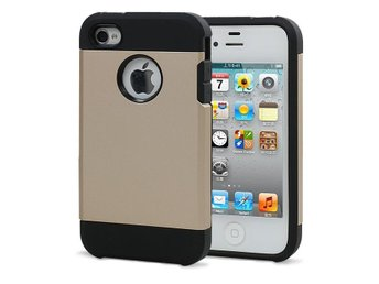 Iphone 4 4S Tough Armor Cover Skal Skydd Case Guld
