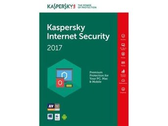Kaspersky Internet Security Multi Device 2017, 3anv 1år Retail box